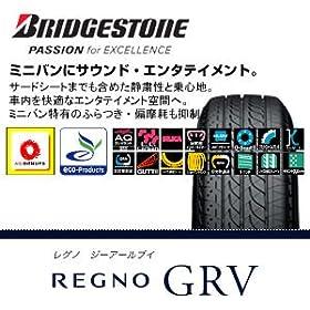 【クリックでお店のこの商品のページへ】BRIDGESTONE [ ブリヂストン ] REGNO [ レグノ ] GRV [ サイズ ] 215/65R16 098H [ 商品コード ] PSR09984