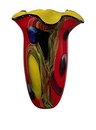 Dale Tiffany Trevor Art Glass Vase, Multi