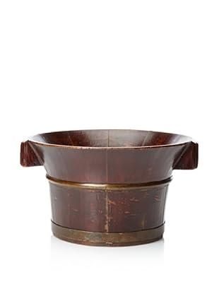 Antique Revival Water Bucket Planter (Brown)