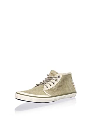 Tretorn Men's Krona Mid Leather Chukka Sneaker (Sailing Grey)