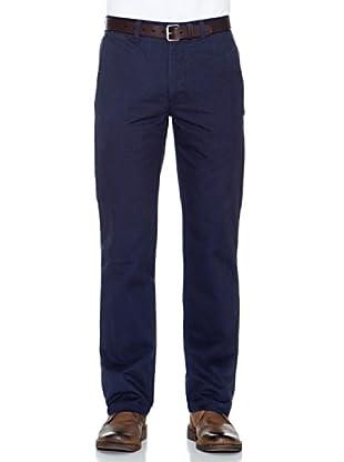 Dockers Pantalón Recto De Algodón (Azul Marino)