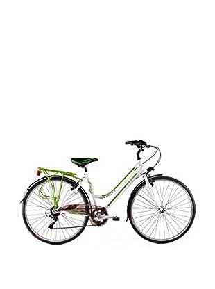 Schiano Cicli Bicicleta 28 Trekking 3.0 06V. Blanco / Verde