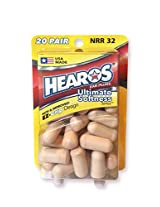 Hearos Ultimate Softness Series Foam Earplugs - 20 Pair
