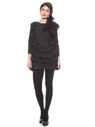La Casita de Wendy Vestido Volantes (negro)