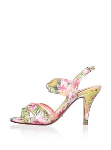 Schutz Women's Floral Sandal (Flambe/Coralium)