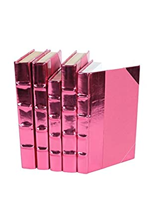 Set of 5 Metallic Collection Books, Pink