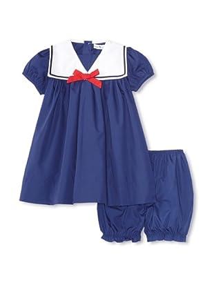 Bebe Mignon Baby Dress/Bloomer (Navy)