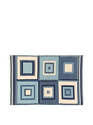 ABC Teppich  blau 160 x 230 cm