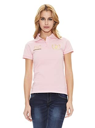 Polo Club Polo Manga Corta Custom Fit Big Horse & Number (Rosa)