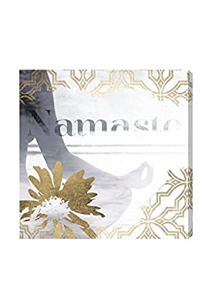 Oliver Gal 'Namaste Grey' Canvas Art