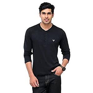 Phoenix Black Henley Men T shirt fsp