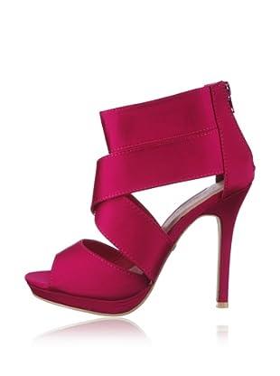 Buffalo Girl 311509A SATIN 132094 - Sandalias fashion de tela  mujer (Rosa)
