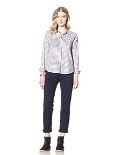 Steven Alan Women's Reverse Seam Shirt (Grey Plaid)