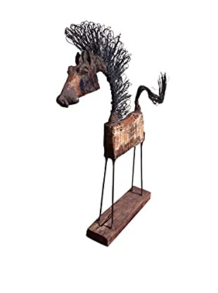 Asian Art Imports Medium Chin Horse, Natural