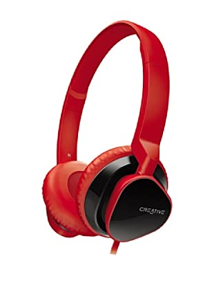 Creative Hitz MA2300 - Auriculares de diadema cerrados, color rojo