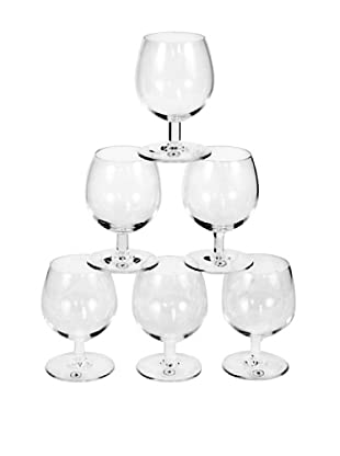 Set of 6 St. Lambert Cognac Glasses, Clear