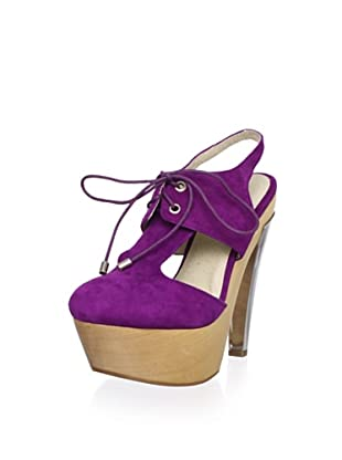 Messeca Women's May Lace-Up Pump (Berry)