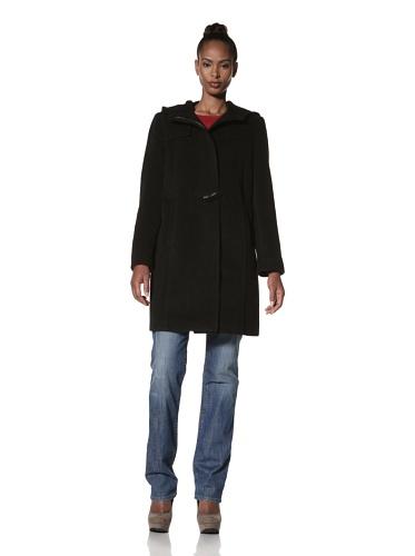 Hilary Radley Women's Toggle Coat (Black)