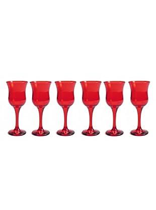 Pasabahce Set 6 Calici Vino Rosso