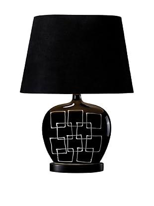 Artistic Lighting Capelle Table Lamp (Gloss Black)