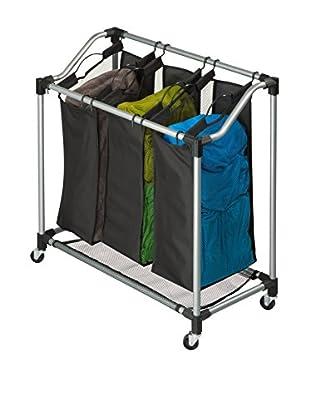 Honey-Can-Do Elite Triple Laundry Sorter, Steel/Black