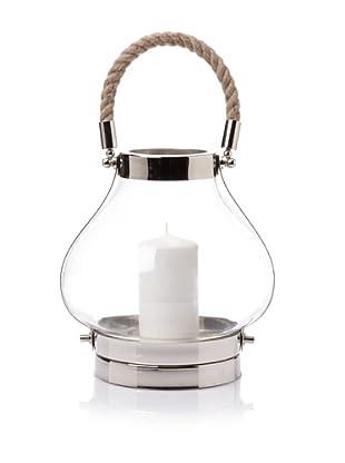 Sidney Marcus Coastal Candle Holder - Medium, Silver (Polished Nickel / Rope)
