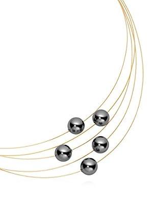 steel art Halskette Linea 5 goldfarben