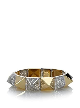 nOir Gold & Silver Pave Pyramid Bangle