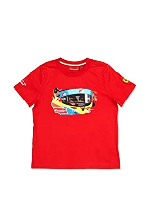 Ferrari Camiseta Alonso Visor (Rojo)