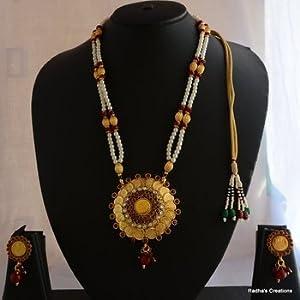 Laxmi necklace - 44(temple jewellery)