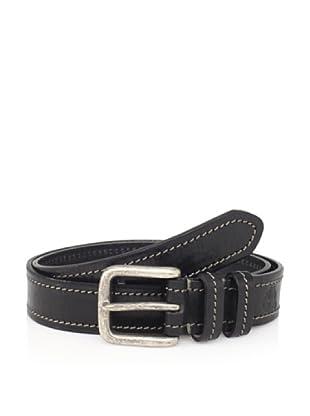 Maker & Company Men's Contrast Stitched Belt (Black)