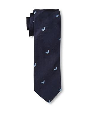 Rossovivo Men's Duck Tie, Navy