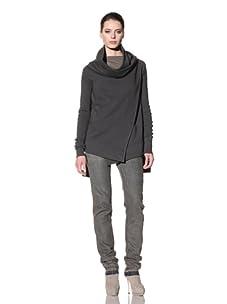 Rick Owens DRKSHDW Women's Knit Sweater Jacket (Dark Shadow)