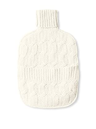 Sofia Cashmere Joy Cable Water Bottle Cover, Ivory