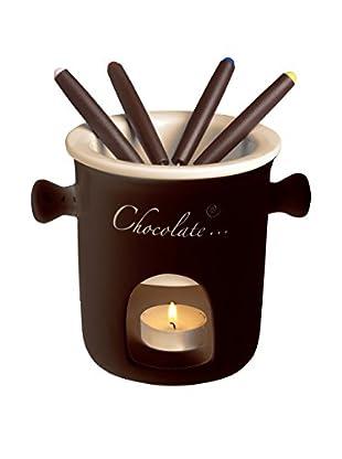 Molecuisine Fondue de Chocolate 7 Piezas Crema/Marrón