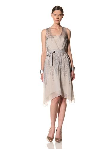 Bibhu Mohapatra Women's Sleeveless V-Neck Dress (Grey)