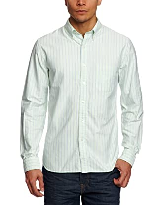 Brooks Brothers Camisa Spike (Verde / Azul)