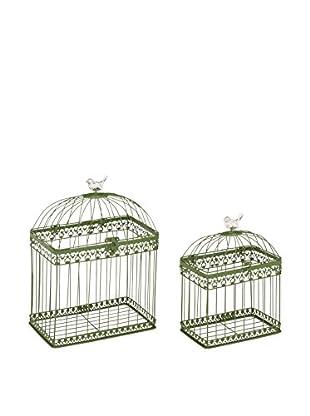 Set of 2 Metal Bird Cages