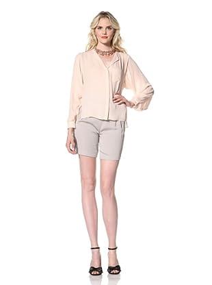 Parker Women's Long Sleeve Pocket Top (Pale Pink)
