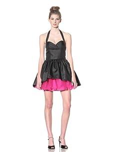 Betsey Johnson Women's Bebe Evening Dress (Black/Fuschia)