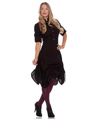 Divina Providencia Vestido Manga Larga (Negro)