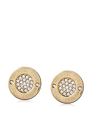 Michael Kors Logo Crystal Gold-Tone Stud Earrings