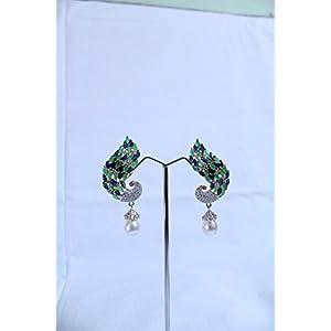 eNV Beautiful peacock earrings