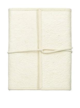 Marina Vaptzarov Vegetal Leather Travel Notebook, White