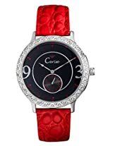 Cerise Andra Big Dial Multi Face Analogue Black Dial Women's Watch - CSK1114