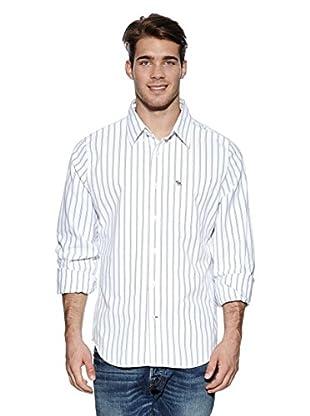 Abercrombie & Fitch Hemd Classic (weiß / marine)