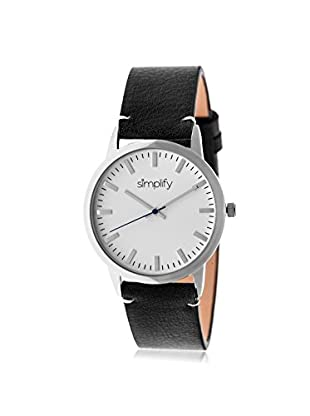 Simplify Women's SIM2801 The 2800 Black/White Leather Watch