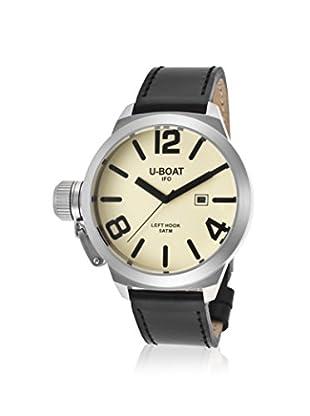 U-Boat Men's 7247 Black Leather Watch, Beige