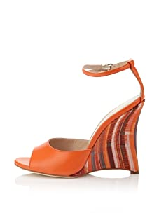 Chelsea Paris Women's Sade Wedge Sandal (Orange Kente)
