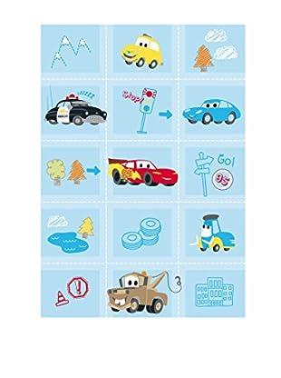 Abc Alfombra Comfort Line Cars Babies Azul 133 x 190 cm